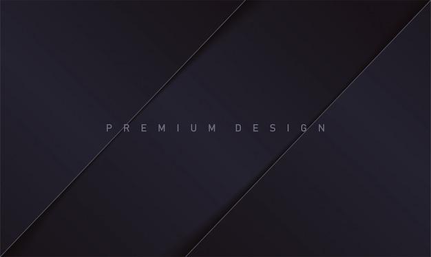 Premium-design im realistischen schwarzen hintergrund des papierstils