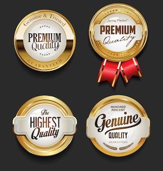 Premium-design-kollektion im vintage-stil