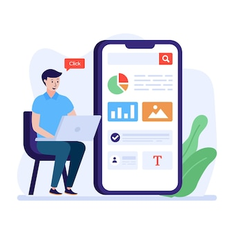Premium-download von big data-flat-illustrationen