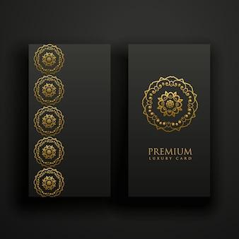 Premium dunkel mandala dekoration banner karte