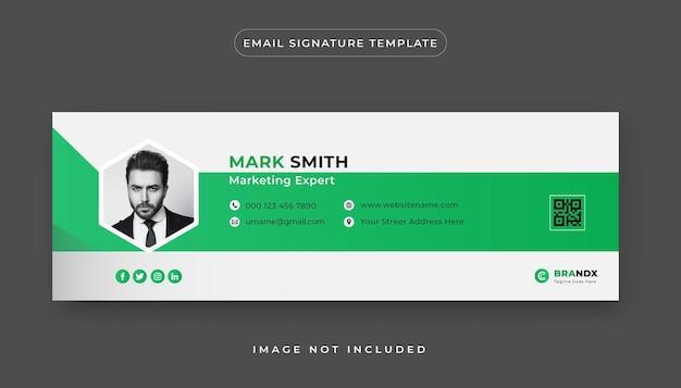 Premium-e-mail-signaturvorlage und persönliches social-media-e-mail-fußzeilen-cover-design