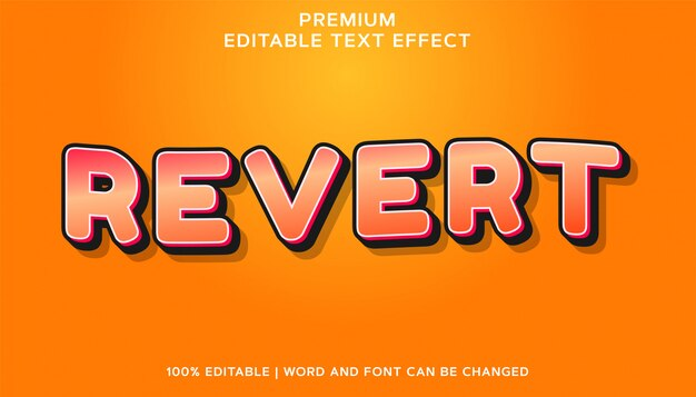 Premium editable font text-effekt zurücksetzen
