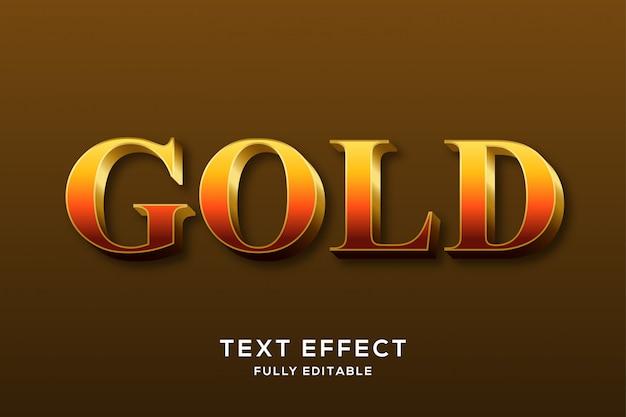 Premium elegant gold text effekt