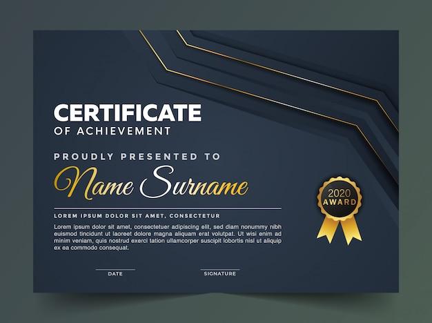 Premium-entwurfsvorlage für abstrakte zertifikate
