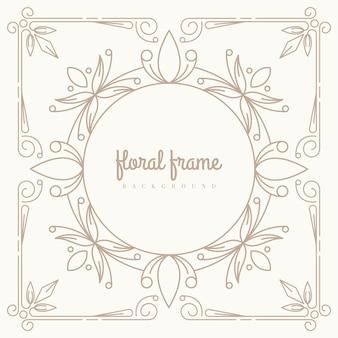 Premium floral frame hintergrund