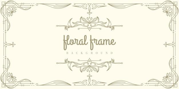 Premium floral frame hintergrundvorlage