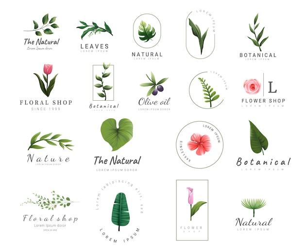 Premium floral logo-vorlagen