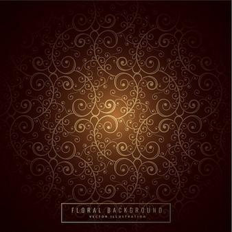 Premium-floralen hintergrund design