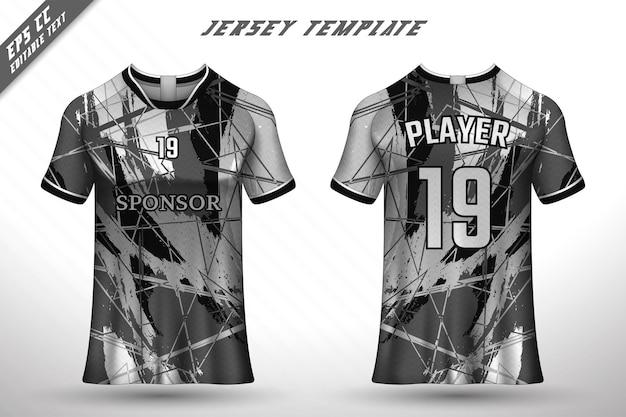 Premium-fußball-trikot-vorlage mit abstrakter textur