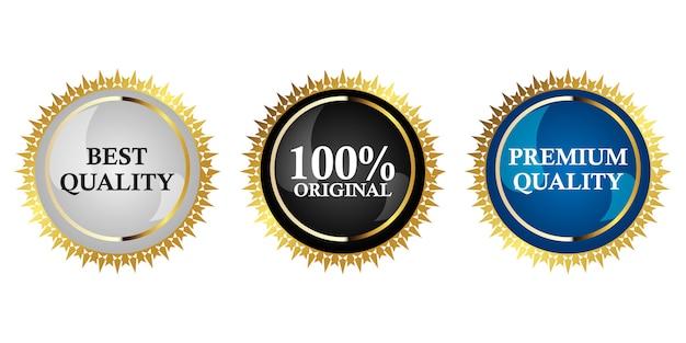 Premium gold abzeichen