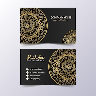 Premium golden visitenkartenvorlage