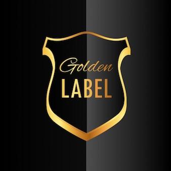 Premium-goldene abzeichen label-symbol design