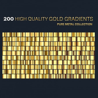 Premium goldene farbverläufe eingestellt