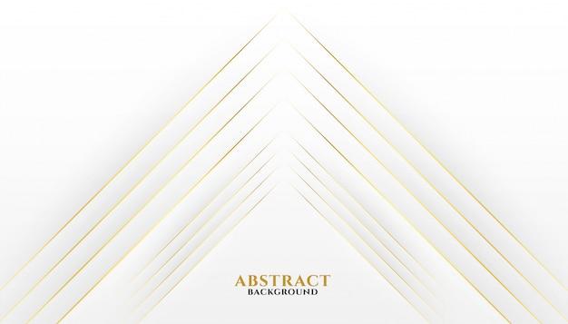 Premium goldene linien auf weißem hintergrund