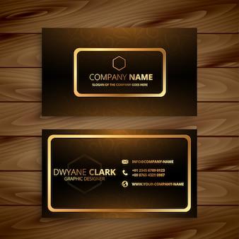 Premium goldene visitenkarte
