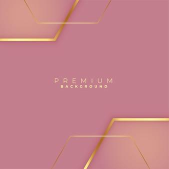 Premium goldener linienhintergrund mit textraum