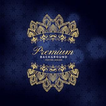 Premium goldener ornamentaler dekorationshintergrund