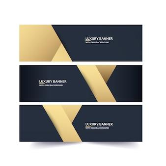 Premium goldenes banner