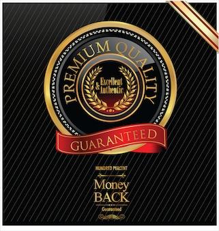 Premium-goldenes etikett