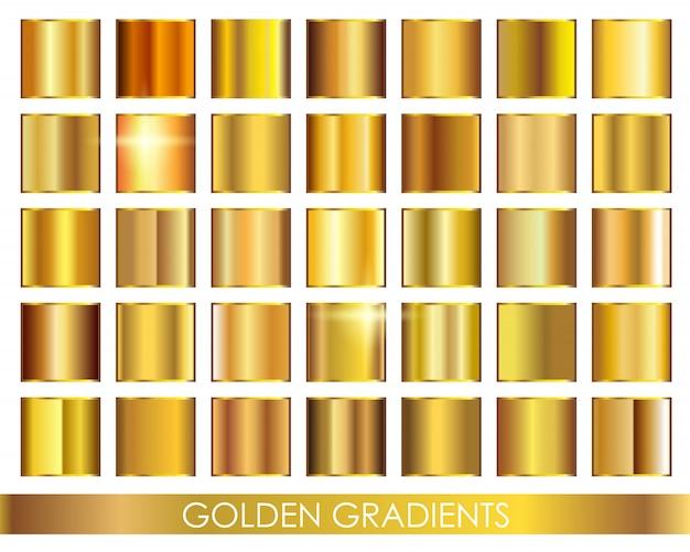 Premium goldverläufe