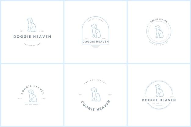 Premium-hundeabzeichen-logo-vorlage