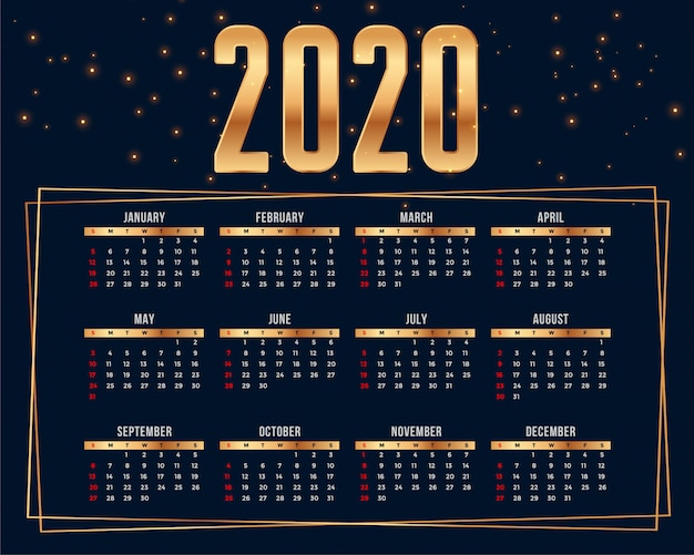 Premium-kalender-design-vorlage