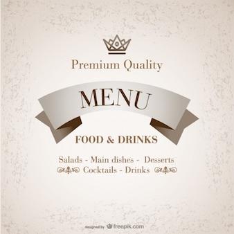 Premium kostenlos restaurant-menü