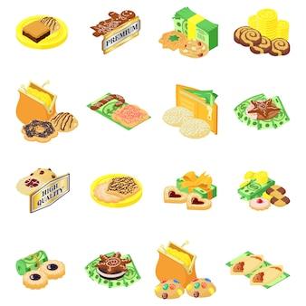 Premium-kuchen-icon-set