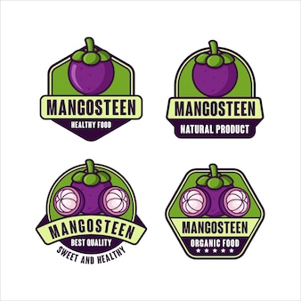 Premium-logokollektion im mangostan-design