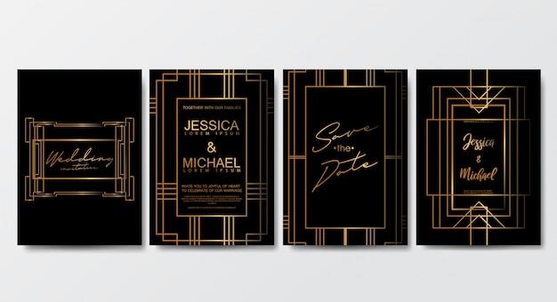 Premium luxus hochzeit einladungskarten vorlage