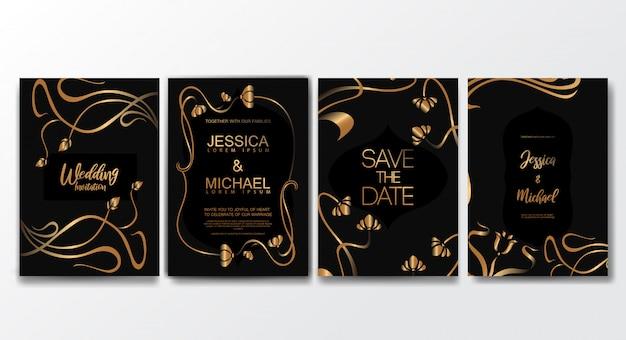 Premium luxus hochzeit einladungskarten