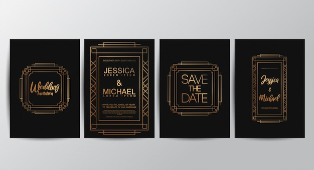 Premium-luxus-hochzeitseinladungskarten