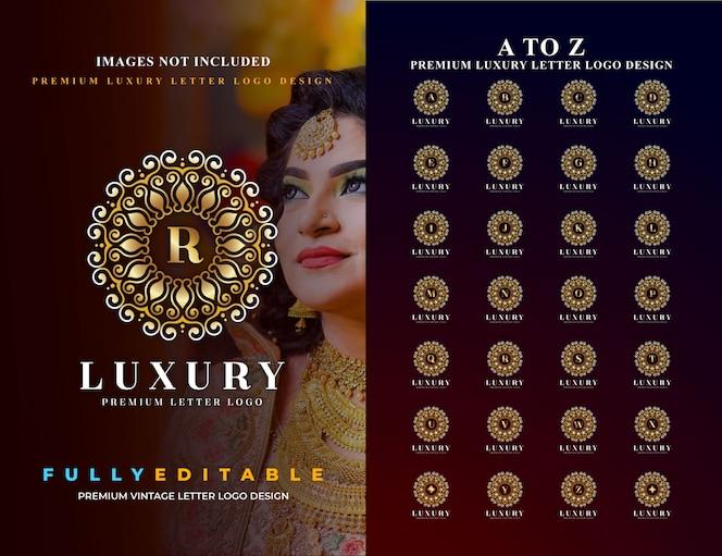 Premium luxus vintage brief logo