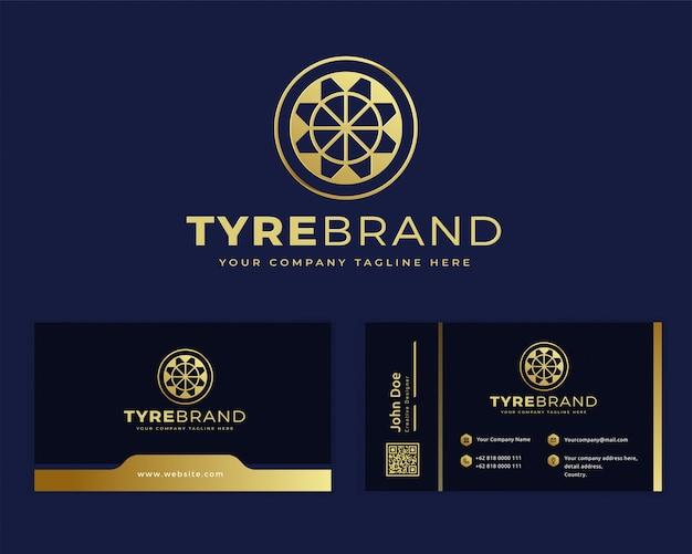Premium luxusreifen motorrad logo vorlage