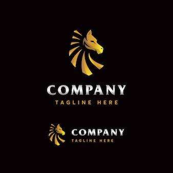 Premium pferd logo vorlage