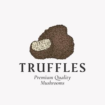 Premium-pilze abstraktes zeichensymbol oder logovorlage