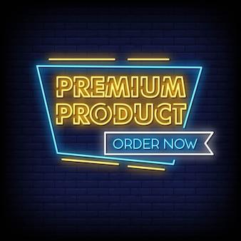 Premium-produkt neon signs style text