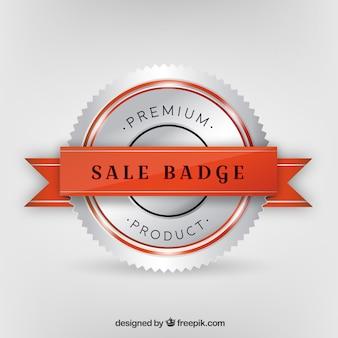 Premium-produkt silber abzeichen hintergrund
