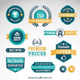 Premium-qualität abzeichen
