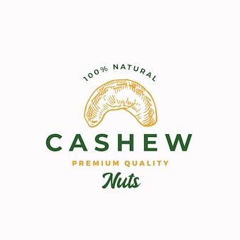 Premium qualität cashew abstraktes zeichen