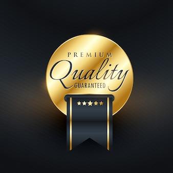 Premium-qualität garantiert golden label-design
