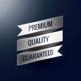 Premium-qualität garantiert silbernes band-label
