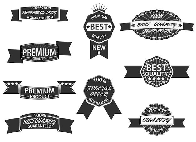 Premium-qualität und garantie-etiketten
