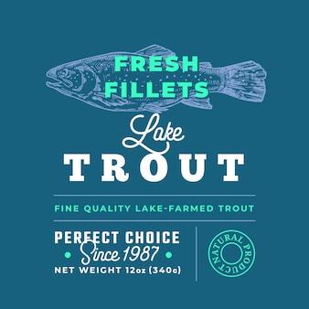 Premium-qualitätsetikett für frische filets