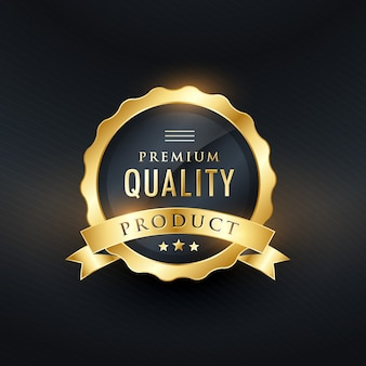 Premium-qualitätsprodukt golden label design
