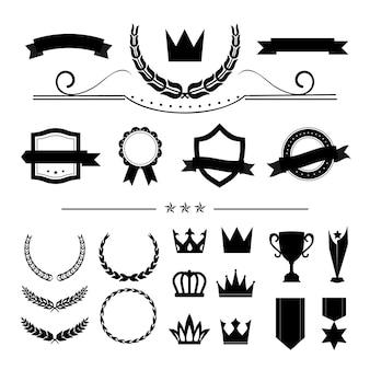 Premium-Qualität Abzeichen und Banner Sammlung Vektoren