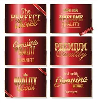 Premium-Qualität Retro-Label