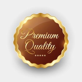 Premium quality golden label zeichen.