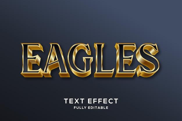 Premium schwarzer und goldener 3d-texteffekt