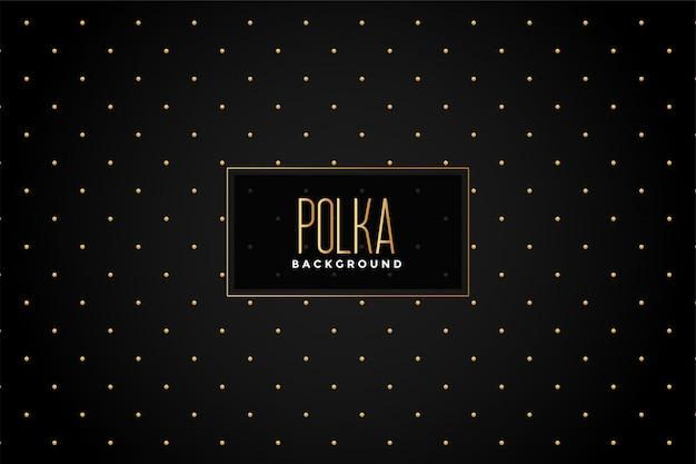 Premium schwarzer und goldener pilka dots hintergrund